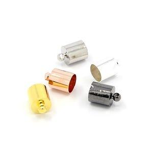 Mixed-Colour  Brass 8mm x 12mm Barrel End Caps Pack Of 30 HA12035
