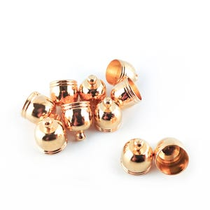 Golden Brass 10mm x 12mm Bell-Shape End Caps Pack Of 10 HA12040