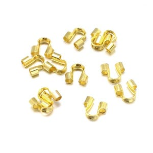 Golden Brass 5mm x 6mm Horse Shoe Wire Guardians Pack Of 150+ HA12090