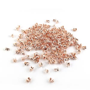 Rose Gold Iron 3mm Clamshell Callottes Pack Of 225+ HA12245