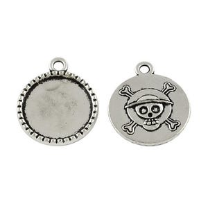 Antique Silver Tibetan Zinc 21mm x 25mm Coin Cabochon Settings Wholesale 3 Packs Of 10 BB-HA12285