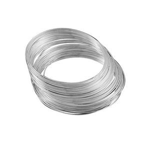 Silver Steel 1.0mm x 11.5cm Round Memory Wire Necklace Loops Pack Of 20 HA12375