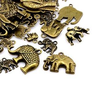 Antique Bronze Tibetan Zinc Mixed Charms 5-40mm Pack Of 30g HA13015