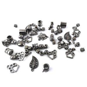 Black Tibetan Zinc Mixed Shape Charms 5-40mm Pack Of 30g HA13060