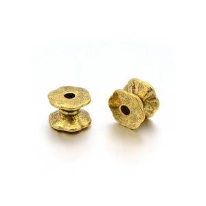 Antique Gold Tibetan Zinc Tube Spacer Beads 5mm x 7mm Pack Of 30 HA15030