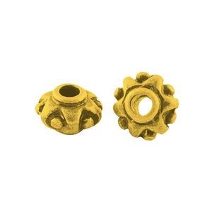 Antique Gold Tibetan Zinc Donut Spacer Beads 7mm Pack Of 30 HA15160