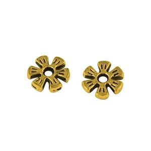 Antique Gold Tibetan Zinc Flower Spacer Beads 8mm Pack Of 50+ HA15180