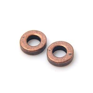 Red Copper Tibetan Zinc Donut Spacer Beads 6mm Pack Of 30 HA15255