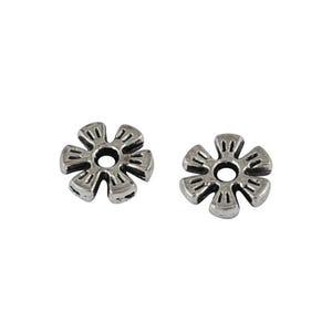 Antique Silver Tibetan Zinc Flower Spacer Beads 2mm x 8mm Pack Of 50+ HA15340