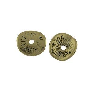 Antique Bronze Tibetan Zinc Twisted Spacer Beads 9mm Pack Of 30 HA15355