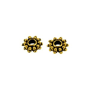 Antique Gold Tibetan Zinc Flower Spacer Beads 9mm Pack Of 30 HA15370