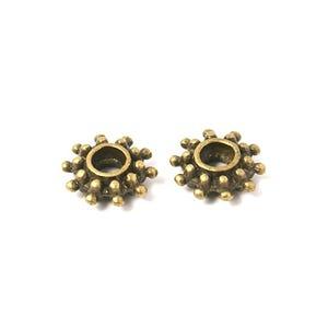 Antique Bronze Tibetan Zinc Flower Spacer Beads 9mm Pack Of 30 HA15520