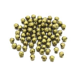 Antique Bronze Tibetan Zinc Oval Spacer Beads 3mm x 4mm Pack Of 30 HA15555