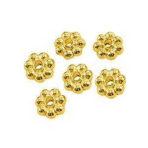 Gold Tibetan Zinc Flower Spacer Beads 5mm Pack Of 100+ HA15580