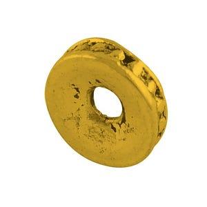 Antique Gold Tibetan Zinc Donut Spacer Beads 2mm x 8mm Pack Of 50+ HA15585
