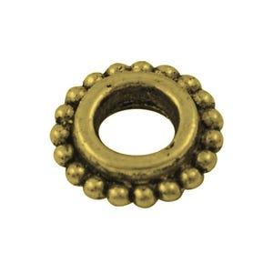 Antique Bronze Tibetan Zinc Donut Spacer Beads 8mm Pack Of 30 HA15600