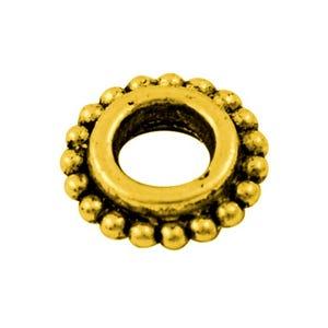 Antique Gold Tibetan Zinc Donut Spacer Beads 8mm Pack Of 30 HA15605