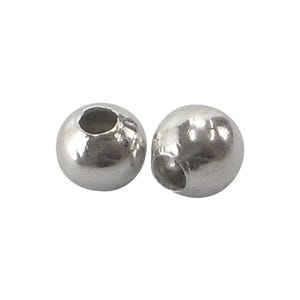 Antique Silver Brass Round Spacer Beads 3mm Pack Of 200+ HA15710