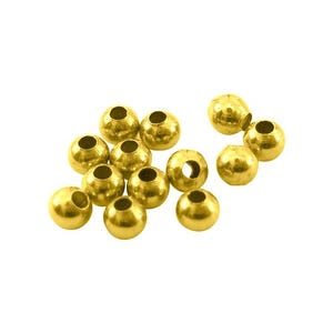 Antique Gold Brass Round Spacer Beads 3mm Pack Of 200+ HA15895