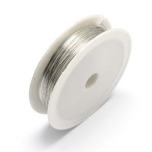 Copper Craft Wire Silver Tone Plated 35m Spool 0.2mm Thick HA16010