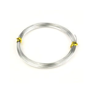 Aluminium Craft Wire Silver Tone Enamelled 10m Coil 1.5mm Thick HA16030