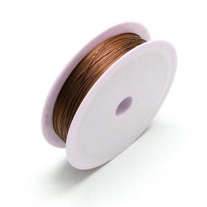Iron Craft Wire Brown Enamelled 7m Spool 0.5mm Thick HA16060