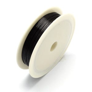 Iron Craft Wire Black Enamelled 20m Spool 0.3mm Thick HA16155