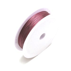 Copper Craft Wire Magenta Enamelled 12m Spool 0.4mm Thick HA16175