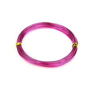 Aluminium Craft Wire Bright Violet Enamelled 10m Coil 0.8mm Thick HA16275
