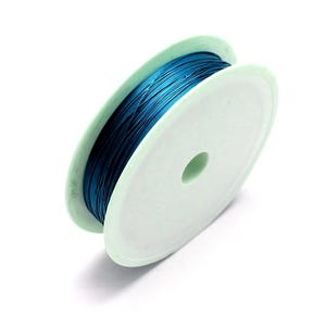 Copper Craft Wire Teal Blue Enamelled 6m Spool 0.6mm Thick HA16300