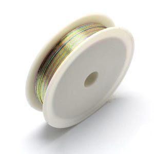 Iron Craft Wire Multicolour Enamelled 20m Spool 0.3mm Thick HA16575