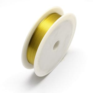Iron Craft Wire Golden Enamelled 12m Spool 0.4mm Thick HA16800