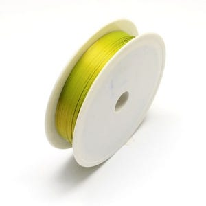 Iron Craft Wire Yellow/Green Enamelled 7m Spool 0.5mm Thick HA16815