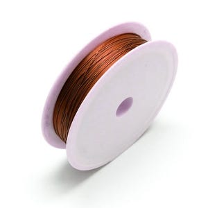 Copper Craft Wire Brown Enamelled 8m Spool 0.5mm Thick HA16845