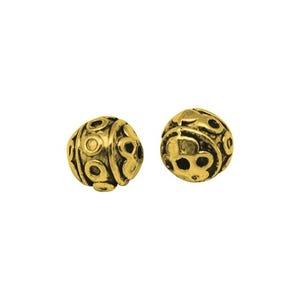 Antique Gold Tibetan Zinc Round Spacer Beads 8mm Pack Of 10 HA17005