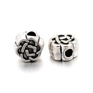 Antique Silver Tibetan Zinc Flower Spacer Beads 3mm x 5mm Pack Of 30 HA17045