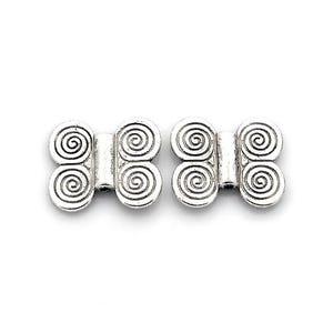 Antique Silver Tibetan Zinc Butterfly Beads 17mm x 20mm Pack Of 10 HA17095