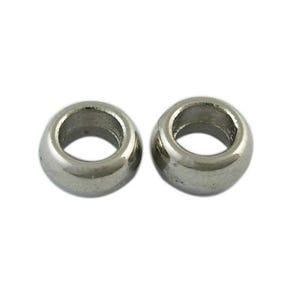 Antique Silver Tibetan Zinc Donut Spacer Beads 3mm x 6mm Pack Of 25 HA17140