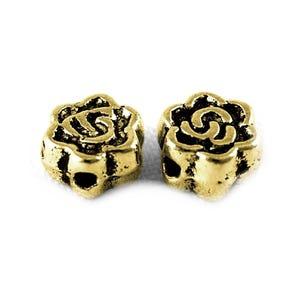 Antique Gold Tibetan Zinc Flower Spacer Beads 3mm x 5mm Pack Of 30 HA17470