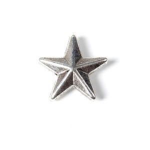 Antique Silver Tibetan Zinc Star Beads 12mm x 13mm Pack Of 20 HA17725
