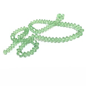 Green Czech Crystal Faceted Saucer Beads 3.5 x 6mm Strand Of 95+ Pieces HA21065