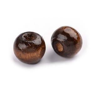 Brown Wood Plain Rondelle Beads 6mm x 8mm Pack Of 200+ HA23225