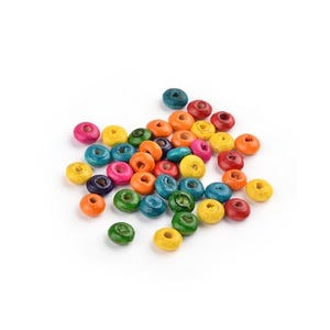 Mixed-Colour Wood Plain Rondelle Beads 3mm x 6mm Pack Of 700+ HA23235