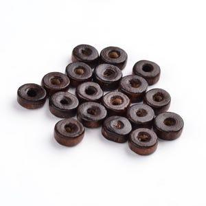 Dark Brown Wood Plain Rondelle Beads 3mm x 8mm Pack Of 150+ HA23260