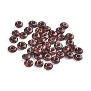 Dark Brown Wood Plain Rondelle Beads 3mm x 6mm Pack Of 700+ HA23290