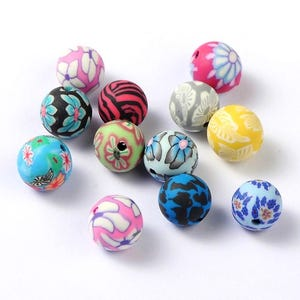 Mixed-Colour Polymer Clay Plain Round Beads 10mm Pack Of 20 HA24050