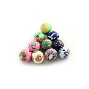 Mixed-Colour Polymer Clay Plain Round Beads 8mm Pack Of 30 HA24095