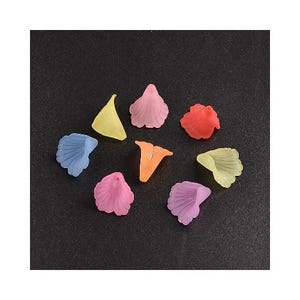 Mixed-Colour Lucite Calla Lily Beads 20mm Pack Of 20 HA25205