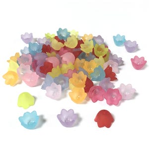 Mixed-Colour Lucite Flower Beads 10mm Pack Of 70+ HA25295