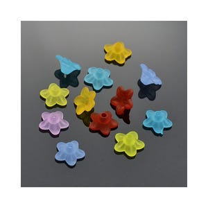 Mixed-Colour Lucite Flower Beads 4.5mm x 9mm Pack Of 80+ HA25850